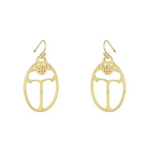 Brand new Tory Burch lady bug earrings in gold